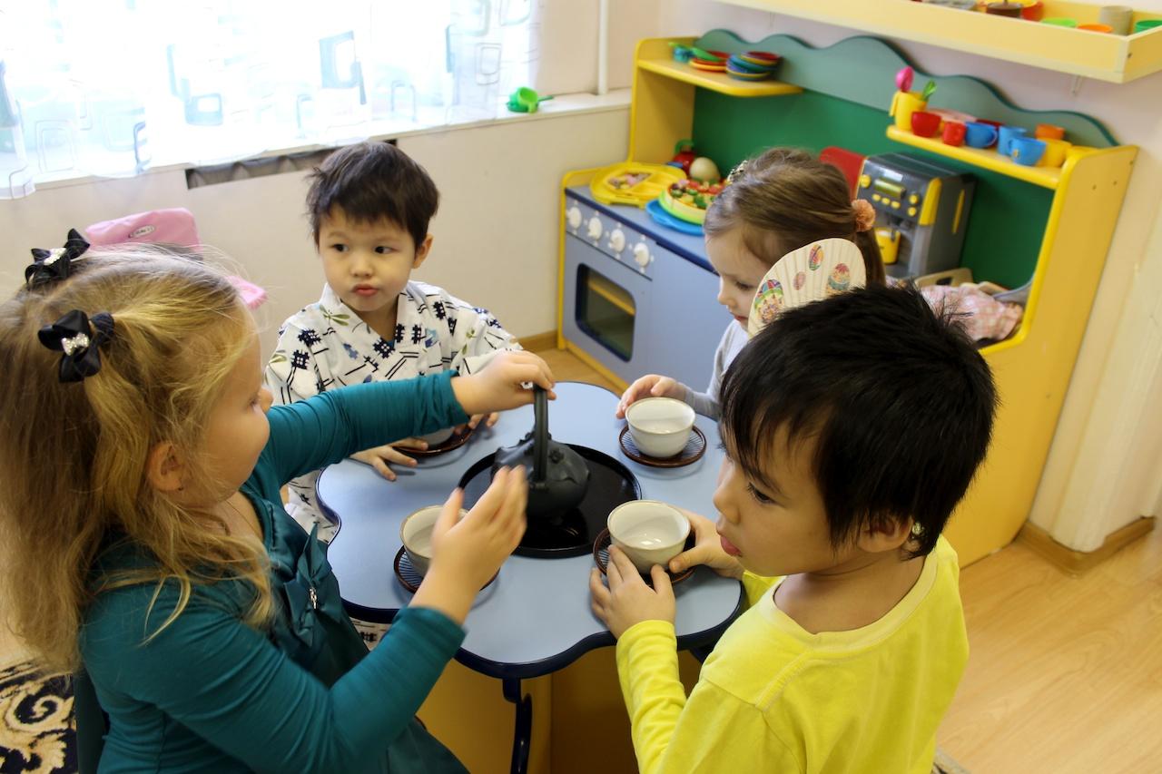 Чаепитие для детей фото